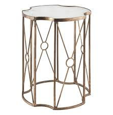 Drum Accent Table by Marianna Hollywood Gold Leaf Antique Mirror End Table 20 5