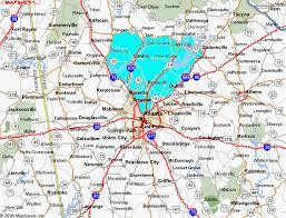 map of metro atlanta all metro atlanta