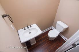 How To Start Installing Laminate Flooring Can I Install Laminate Under A Bathroom Toilet And Sink
