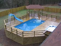 pool backyard ideas with above ground pools sunroom garage