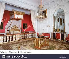 chambre palace palace of versailles trianon chambre de l impératrice stock photo