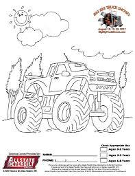 coloring contest raffles eau claire big rig truck show