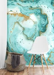wall paper murals large wall murals walls republic painted marble wallpaper mural teal and gold m9253