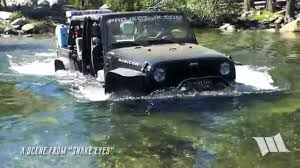 water jeep snake teaser clip water crossing 1 on the fordyce jeep