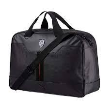 ferrari black ma sports puma scuderia ferrari black holdall bag
