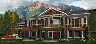 open floor house plans with walkout basement lakefront home plans with walkout basement lovely open floor award