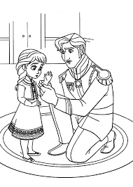 elsa father put glove hand coloring pages coloring sky