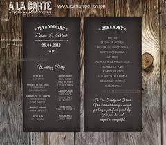 ceremony cards wedding ceremony cards wedding program chalk board style