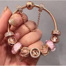 rose bracelet charm images Pandora rose charm bracelet women 39 s fashion jewellery on carousell jpg