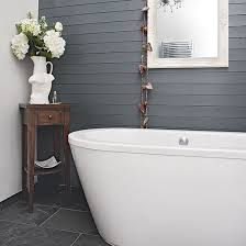 White Paneling For Bathroom Walls - modern bathroom with grey panelling decorating grey and modern