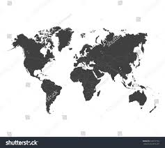 World Map Countries World Map Countries Colorful Vector Illustration Stock Vector