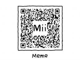 Meme Qr Code - qr code mii name meme
