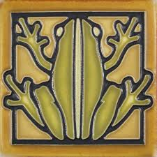 4x4 frog in olive by motawi tileworks animals u0026 insects