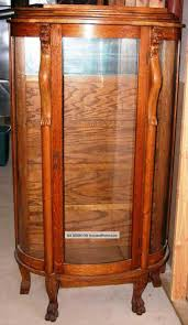 antique curio cabinet with curved glass nice antique china cabinet value on antique circa 1885 oak china