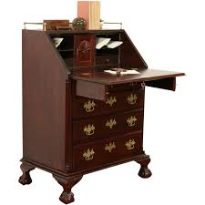 Antique Roll Top Secretary Desk by Traditional Mahogany Vintage Secretary Desk Carved Shells U0026 Ball