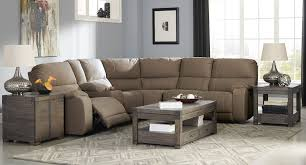 bohannon taupe modular power reclining sectional set living room