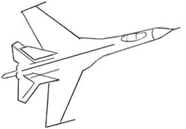how to draw an airplane draw step by step