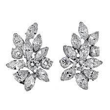 cluster earrings cleef arpels diamond cluster earrings cleef arpels