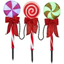 Outdoor Christmas Decorations Lollipops by Lollipop Light Up Pathway Light String My House Will Be The Talk