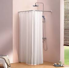U Shaped Shower Curtain Rod L Shaped Corner Corner U Shaped Shower Curtain Rod Shower Curtain