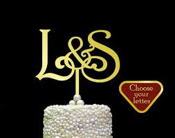 l cake topper letter s cake topper wedding cake idea