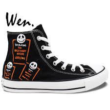 wen painted shoes custom design nightmare before