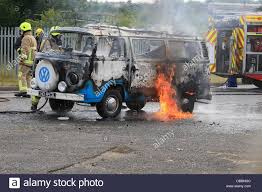 volkswagen fire a 1970 u0027s volkswagen camper van is destroyed by fire at north weald