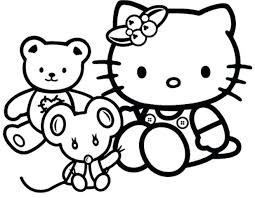 coloring pages kitty print fresh sweet leisure cat
