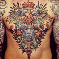 chest amazing wings with crown and mirror