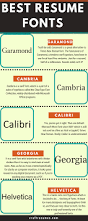 What Is The Best Font To Use For Resumes Font Resume Resume For Your Job Application