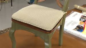 How To Upholster Dining Room Chairs by How To Make Your Own Chair Pad Cushions Youtube