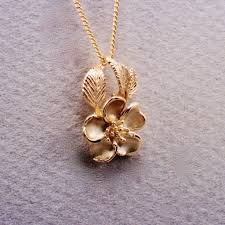rose pendant necklace gold images Wild mountain rose pendant stling jewelry design jpg