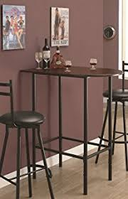 Amazoncom Costway  Piece Bar Table Set With  Stools Bistro Pub - Bar table for kitchen