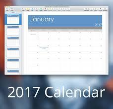 2017 calendar template for pages u0026 pdf mactemplates com