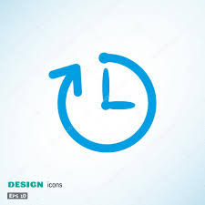 simple clock with rounded arrow icon u2014 stock vector lovart 77561841