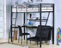 Bunk Bed With Workstation Metal Loft Bed With Desk Ikea Lustwithalaugh Design Metal Loft