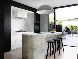 contemporary island kitchen counter height bench kitchen scandinavian with monochromatic