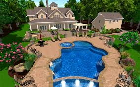 Backyard Design Software by Bedroom Foxy Swimming Pool Hardscape And Landscape Ideas Cool