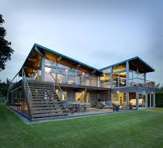 architects home design hurricane proof wood and steel waterfront home on island