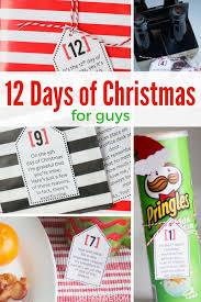 simple 12 days of christmas for guys so festive com printable
