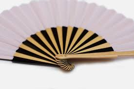 decorative fans striped fan blush pink fernfans