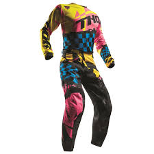 fxr motocross gear thor 2017 pulse louda jersey pants package yellow pink available