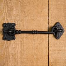 hand forged iron cabin door hook latch hardware