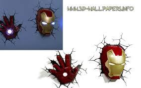 cool deco light usauk superhero night lights iron man deco wall light nightlight deluxe set helmet and repulsor hand