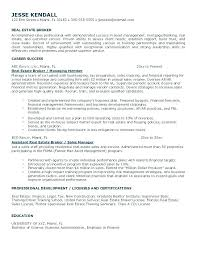 real estate agent resume sample free operations manager samples