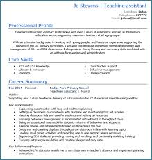 cv templates for teaching assistants teaching assistant cv exle with writing guide and cv template