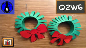 how to make a paper christmas wreath youtube