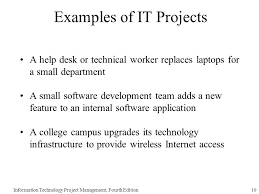help desk project management chapter 1 introduction to project management information technology