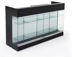 Reception Desk With Glass Display Glass Display Reception Desk Desk Ideas