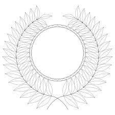don u0027t eat the paste laurel wreath and medal coloring page